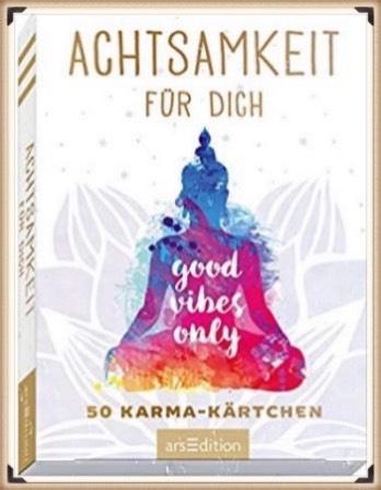 Achtsamkeit für dich: 50 Karma-Kärtchen, schön gestaltete Achtsamkeitskarten